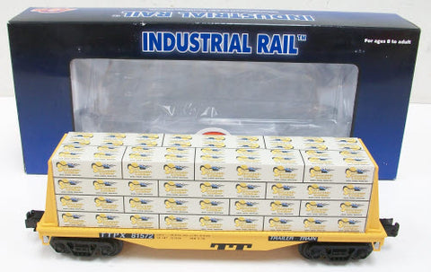 Industrial Rail 1004103 Trailer Train Flatcar w/Lumber Load