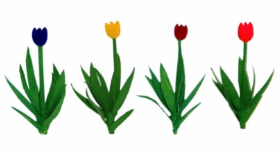 "JTT Scenery Products 95555 O 1"" Tulips (Pack of 36)"