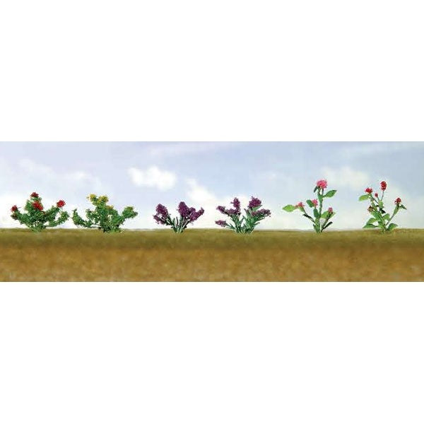 "JTT Scenery Products 95558 O 3/4"" Assorted Flower Plants Set #1 (Pack of 10)"