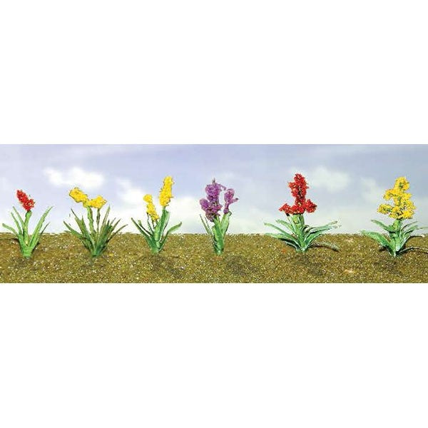"JTT Scenery Products 95559 HO Assorted Flower Plants, Set #2, 5/8"" Wide (Pack of 10)"