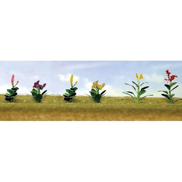 "JTT Scenery Products 95563 HO 5/8"" Assorted Flower Plants Set #4 (Pack of 10)"