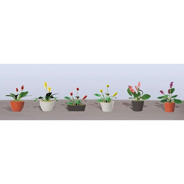 JTT Scenery Products 95569 HO Flower Plants Potted Assortment 3 (Pack of 6)