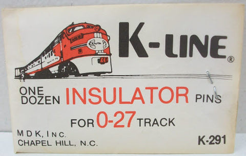 K-Line K291 027 Insulator Track Pins (Pack of 12)