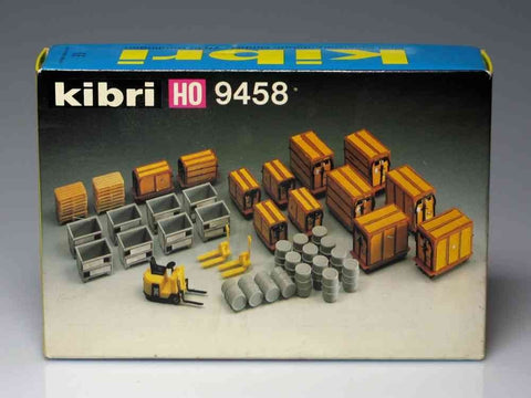 Kibri 9458 HO Scale Freight Load Set w/Forklift Model Kit