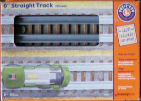 "Learning Curve 92702 - Lionel 6"" Straight Track (150mm)"