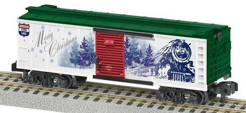 American Flyer 6-48874 S Scale American Flyer 2014 Christmas Boxcar
