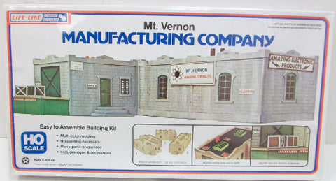 Life Like 1337 HO Mt Vernon Manufacturing Building Kit