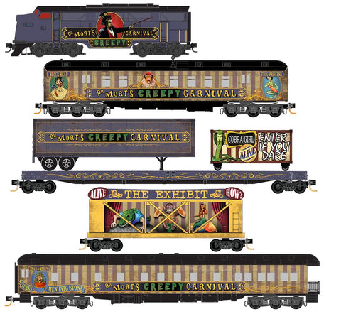 MicroTrains 99321270 N Dr. Mort's Creepy Carnival Halloween Train Set