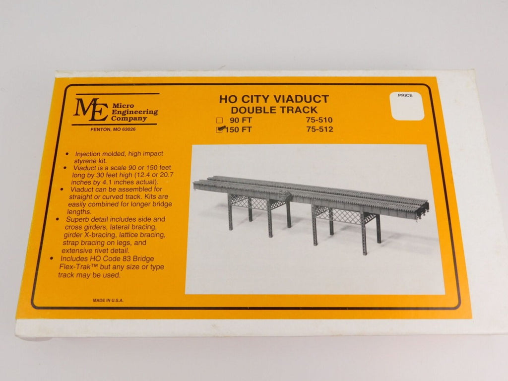 Micro Engineering 75-512 HO 150' Double Track City Viaduct Kit