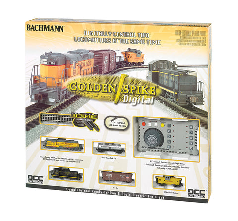 Bachmann 24131 N Golden Spike DCC Train Set