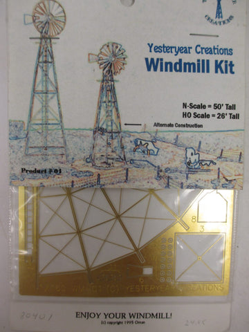 Yesteryear Creations 1 N Windmill Etched Brass Kit