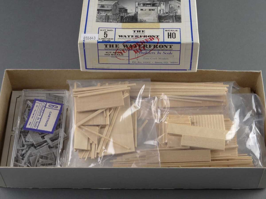 "Builders-in-Scale 5 HO Scale ""The Waterfront"" Craftsman Kit"