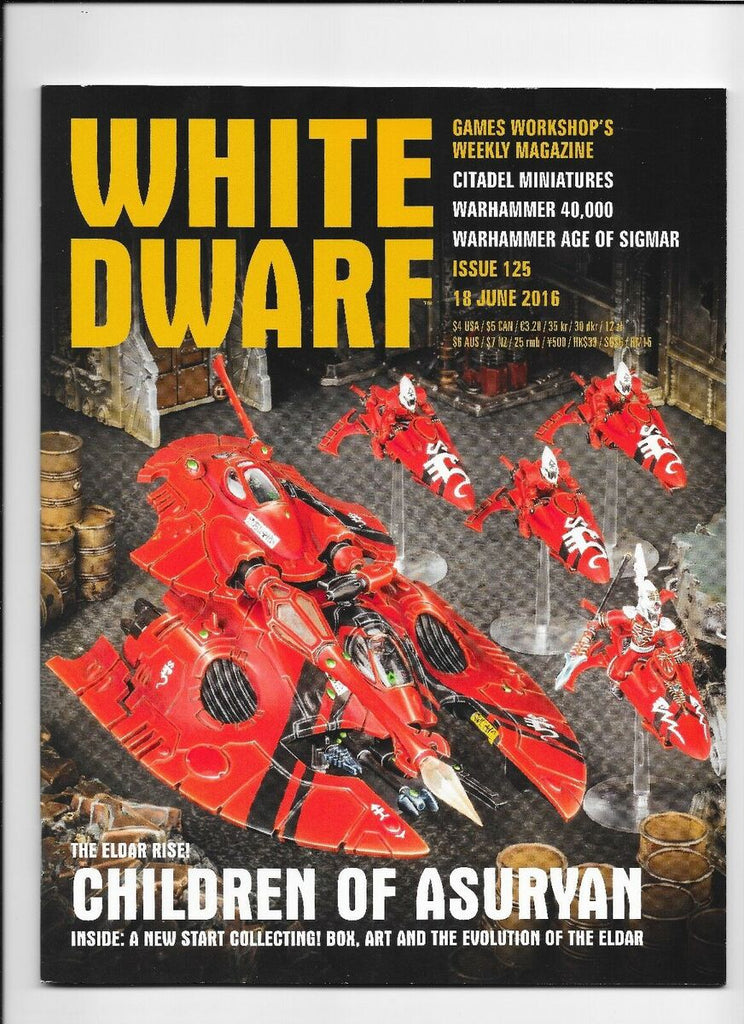 Games Workshop 125 White Dwarf Magazine Issue 125, June 18th, 2016