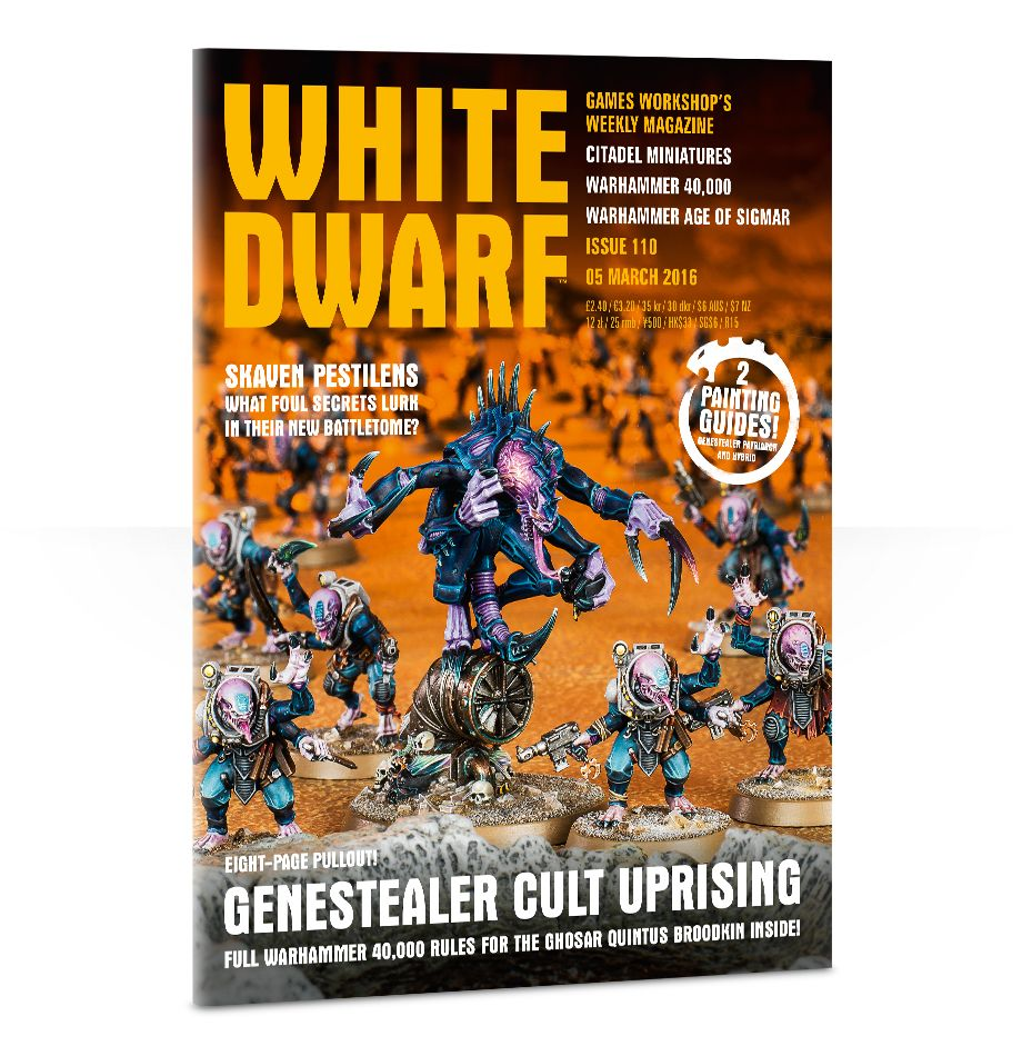 Games Workshop 110 White Dwarf Magazine Issue 110, March 5th, 2016