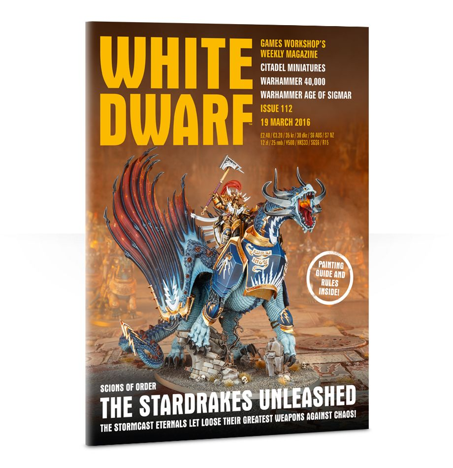 Games Workshop 112 White Dwarf Magazine Issue 112, March 19th, 2016