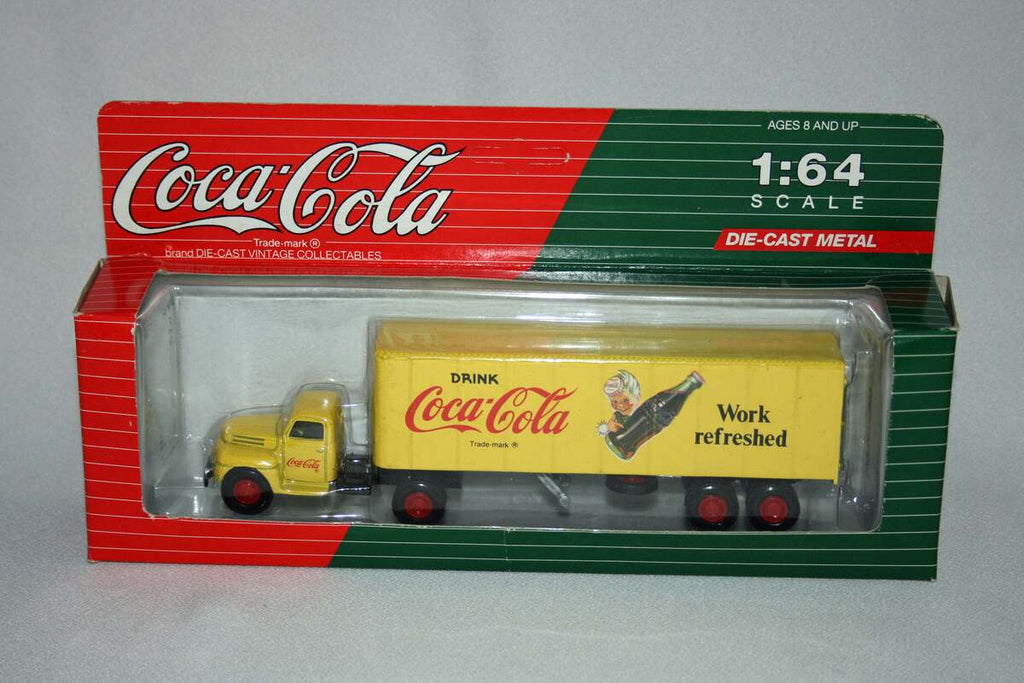 AHL C55401 1:64 Diecast Coca-Cola Work Refreshed Tractor Trailer