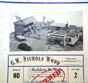 Builders-in-Scale 2 HO Scale G.W. Nichols Wood Building Kit