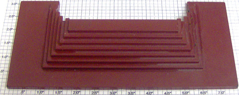 American Flyer PA12B814 S Scale Union Station Red/Brown Steps
