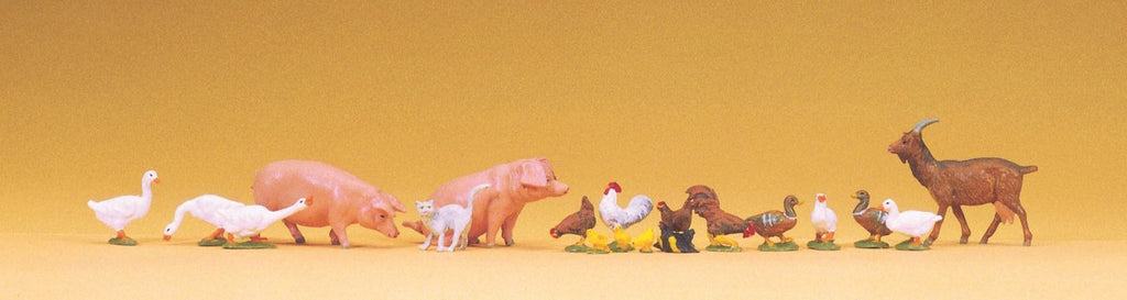 65326 O Scale Animals Assorted, Small pkg(19)