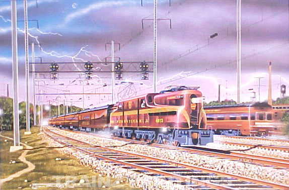Robert West 323 PRR 'Pennsylvania Thunder' Railroad Art Print - Signed