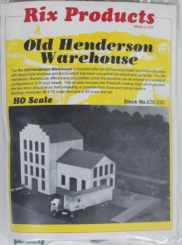 Rix Products 628-250 Old Henderson Warehouse Building Kit