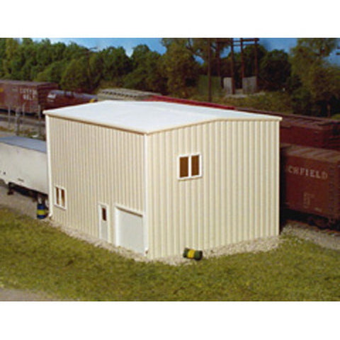Pikestuff 541-0162 HO KIT Yard Office, Ivory
