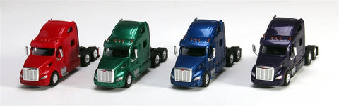 Trucks N' Stuff SP3006 1:87 Peterbilt 587 Assorted Tractor Only (Pack of 4)