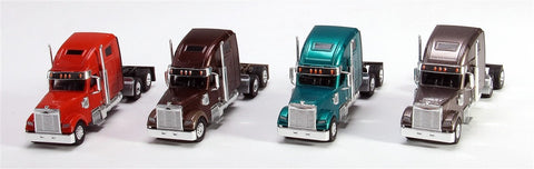 Trucks n Stuff SP3015 1:87 Coronado Highroof Assorted Tractor Only Pack 3 (Pack of 4)