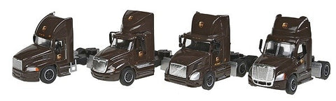 Trucks n Stuff SP3017 1:87 UPS Tractor Only Super Pack (Pack of 4)