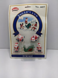 Model Power 6057 Santa Land Figures & Sleigh Set