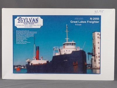 Sylvan Scale Models N-2050 N Scale Great Lakes Freighter Building Kit