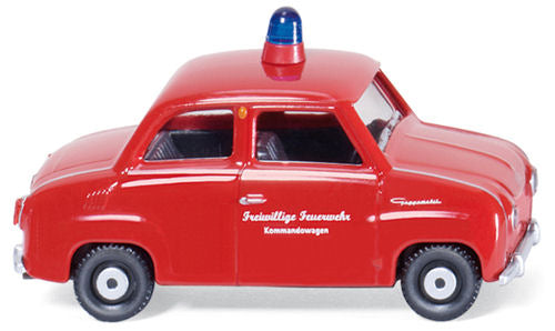 Wiking 086120 HO Glas Goggomobil - Fire Service Vehicle