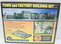 Woodland Scenics S1485 N Town and Factory Building Kit Set