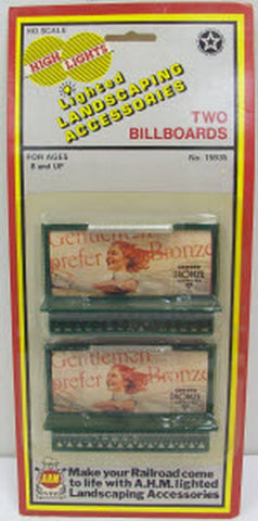 AHM 15935 HO Scale Lighted Billboards (2pk)