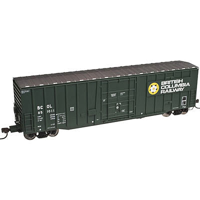 Atlas 50002142 N British Columbia Railway NSC 50' Plug-Door Boxcar #851014