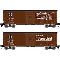 Atlas 50002333 N Santa Fe Super Chief USRA Steel Rebuilt Boxcar #148847