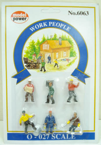 Model Power 6063 O People at Work Figures (Pack of 6)