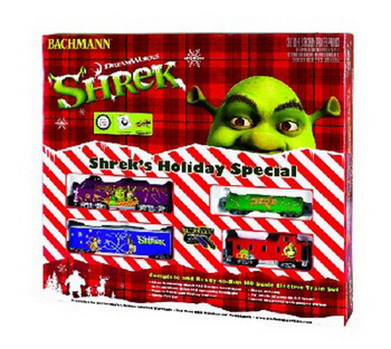 Ho Christmas Train.Bachmann 00676 Ho Shrek S Holiday Special Train Set Trainz
