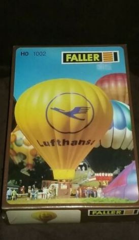 Faller 1002 HO Lufthansa Hot Air Balloon Building Kit