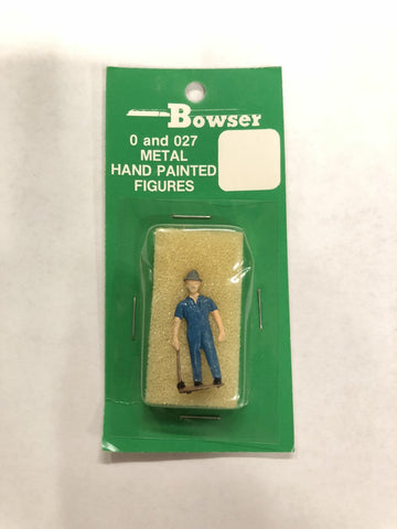 Bowser 013714 Metal Hand Painted Figures- Workman Leaning On Sledge Hammer