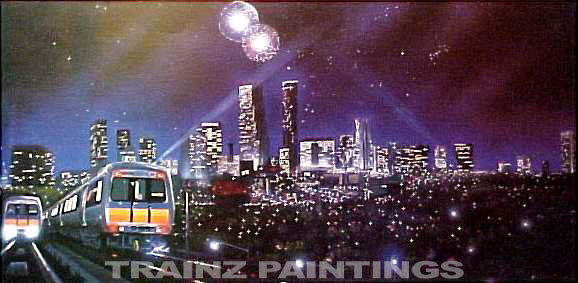 Robert West 96 Brave and Beautiful City' Railroad Art Print - Signed