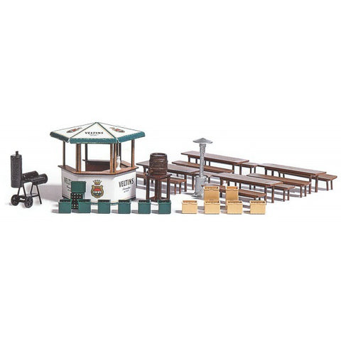 Busch 1048 HO Beer Garden Accessories