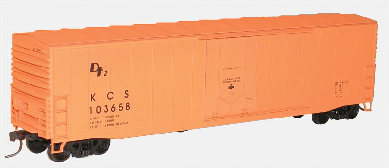 Accurail 5822 HO Kansas City Southern 50' Welded Plug-Door Boxcar