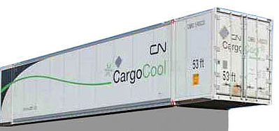 Con-Cor 488157 HO Canadian National Railway 53' Reefer Container #1 (2)