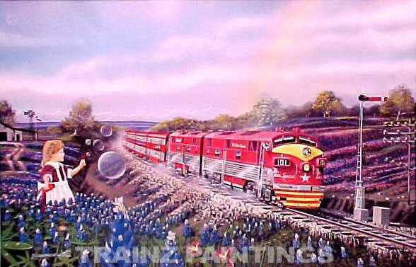Robert West 234 MKT 'Central Texas Memories' Railroad Art Print - AP