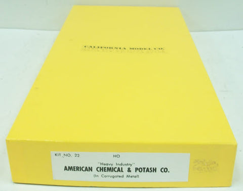 California Model Co 22 American Chemical & Potash Co.