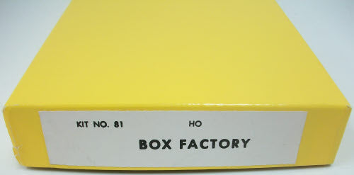 California Model Co 81 HO Scale Box Factory Kit