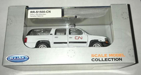 Welly Diecast RR-S1500-CN HO Chevy 1500 Suburban Canadian National