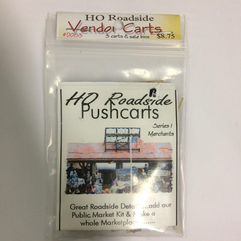 Model Tech Studios D0153 HO Roadside Pushcarts Kit (3)