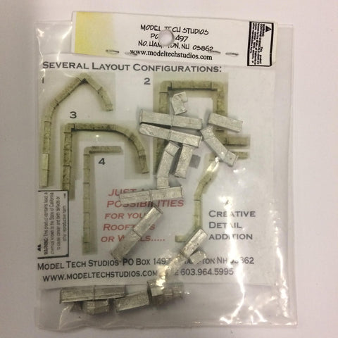 Model Tech Studios D0170 HO Mechanical Ducts Variey Pack